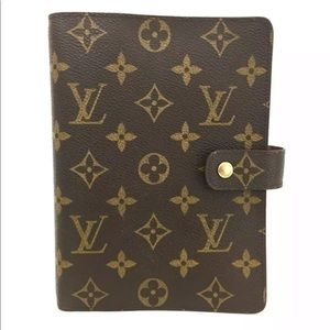 Louis Vuitton Monogram Agenda MM Notebook +Refills